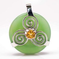 Green Adventrine w/Citrine (Front View)