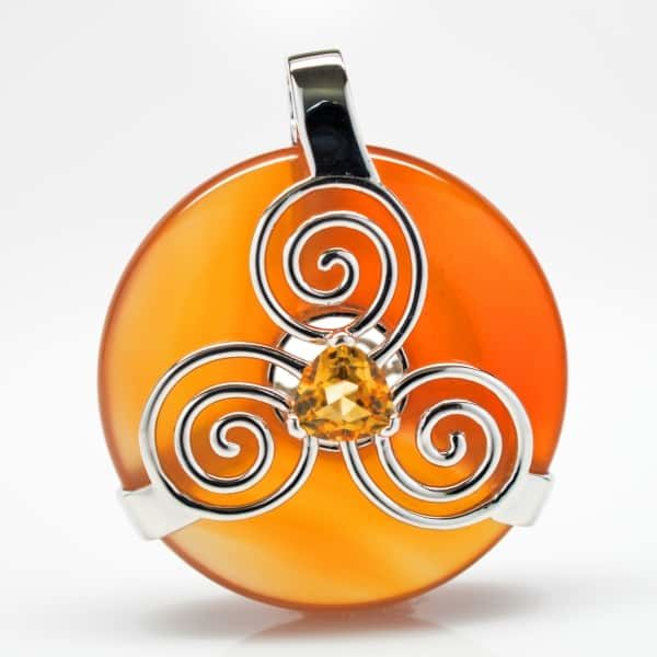 Natural Carnelian w/Citrine (Front View)