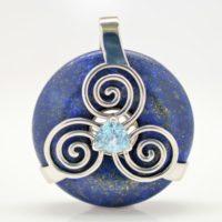 Lapis Lazuli w/Blue Topaz (Front View)
