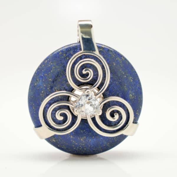 Lapis Lazuli w/Clear Quartz (Front View)