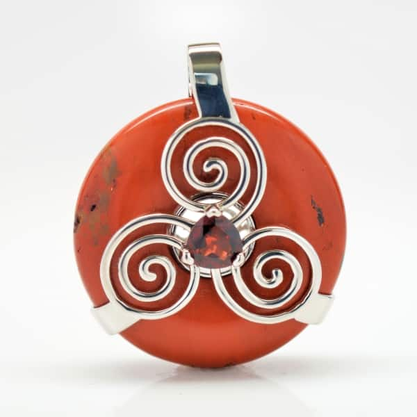 Red Jasper w/Garnet (Back View)