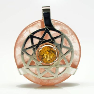 Rose Quartz w/Citrine (Front View)