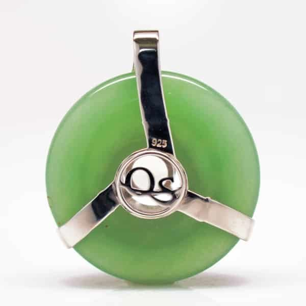 Green Aventurine w/Clear Quartz (Back View)