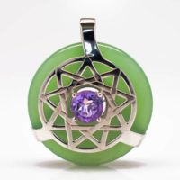 Green Adventurine w/Amethyst (Front View)