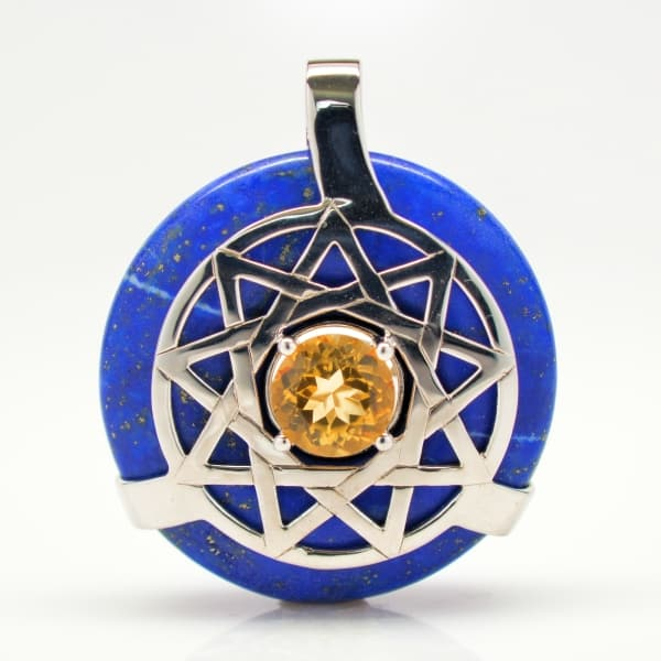 Lapis Lazuli w/Citrine (Front View)