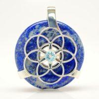 Lapis Lazuli w/Blue Topaz (Front)
