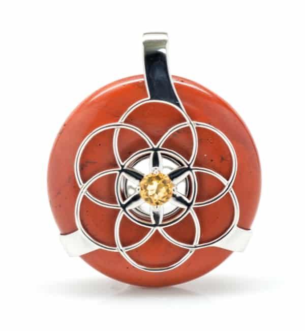 Red Jasper w/Citrine SOL Amulet (Front)