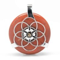 Red Jasper w/Smokey Quartz SOL Amulet (Front)