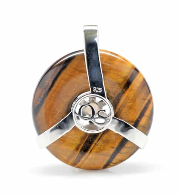 Golden Tiger Eye w/Smokey Quartz SOL Amulet (Back)