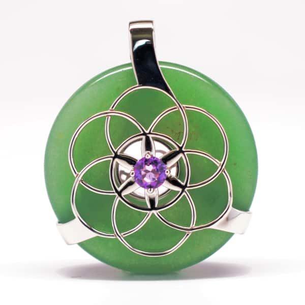 Green Aventurine w/Amethyst (Front View)