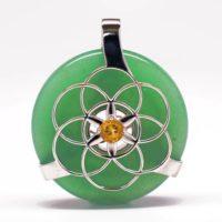 Green Aventurine w/Citrine (Front View)