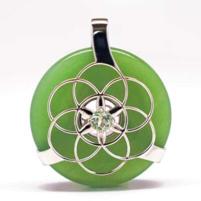 Green Aventurine w/Green Amethyst (Front View)