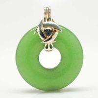 Green Adventurine w/Mystic Green Quartz Bail