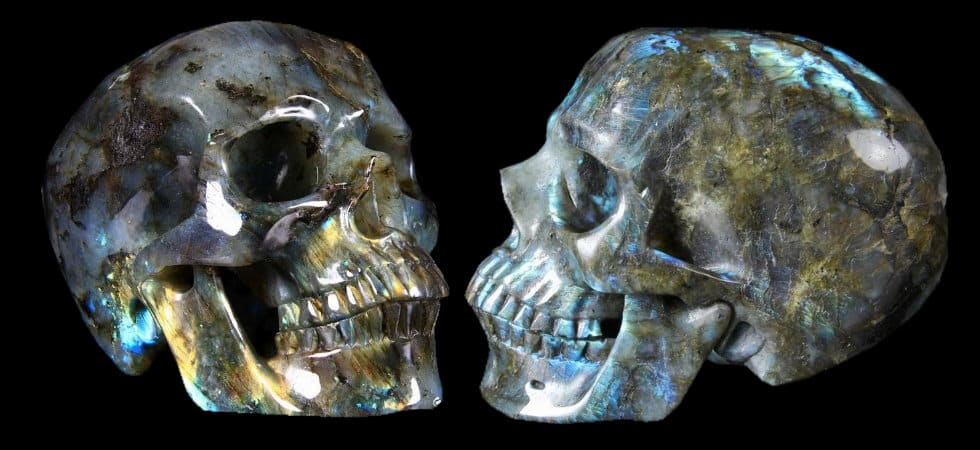 Using crystal skulls for purification and increasing