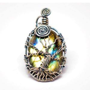 Rainbow Labradorite - Tree of Harmony Amulet (Front)