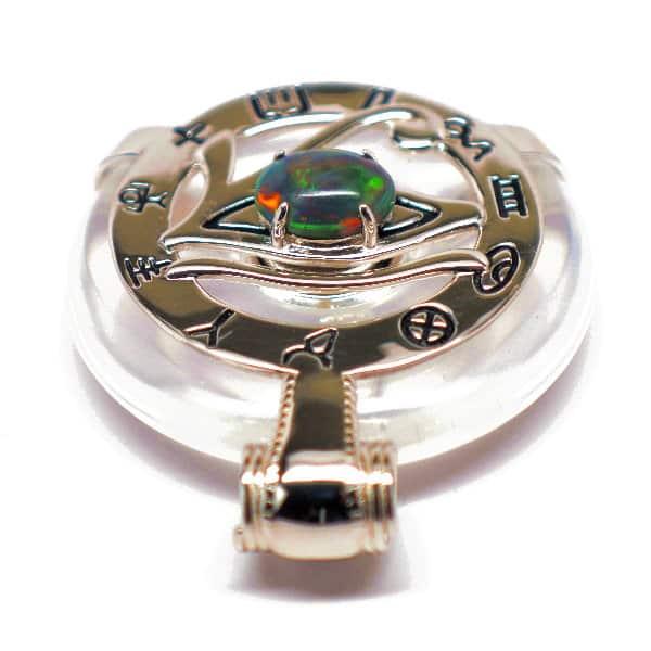 Clear Quartz w/Opal Eye – Horus Egyptian Amulet