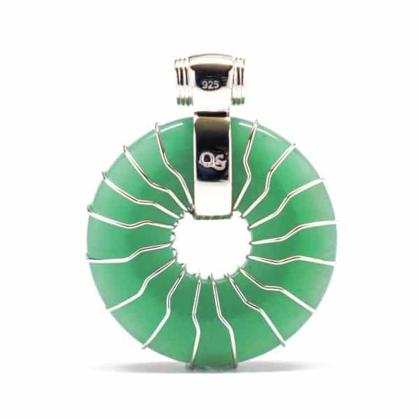 Green Aventurine – Solar Egyptian Amulet (Back)