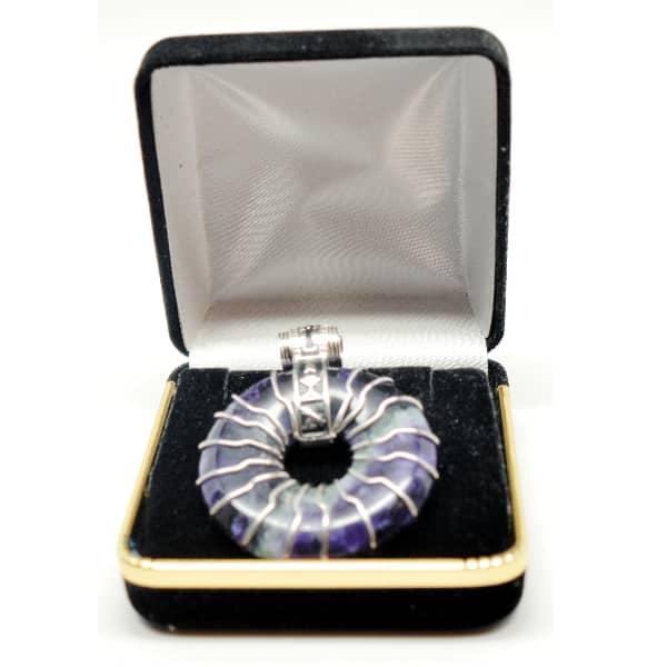 Fluorite – Solar Egyptian Amulet (Free Gift Box)