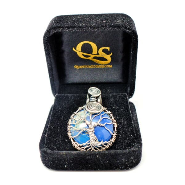 Tree of Infinity Blue Imperial Jasper Amulet (FREE Gift Box)