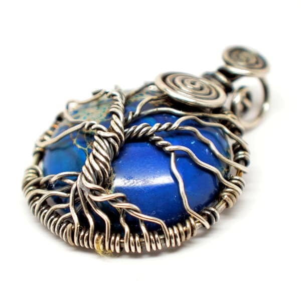 Tree of Infinity Blue Imperial Jasper Amulet