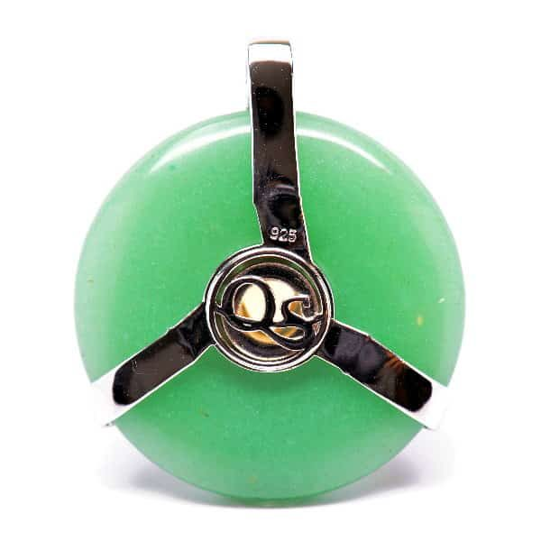 Triquetra Green Aventurine w/Mystic Green & Citrine Amulet (Back)
