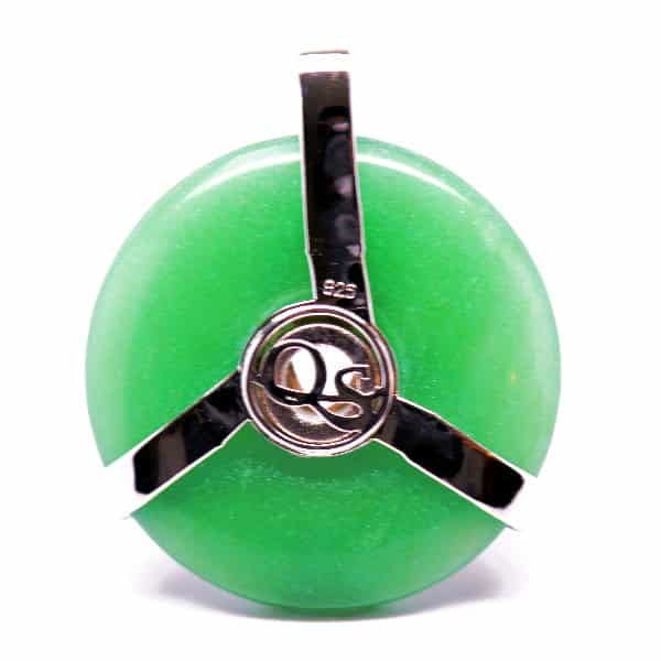 Triquetra Green Aventurine w/Mystic Green & Clear Quartz Amulet (Back)