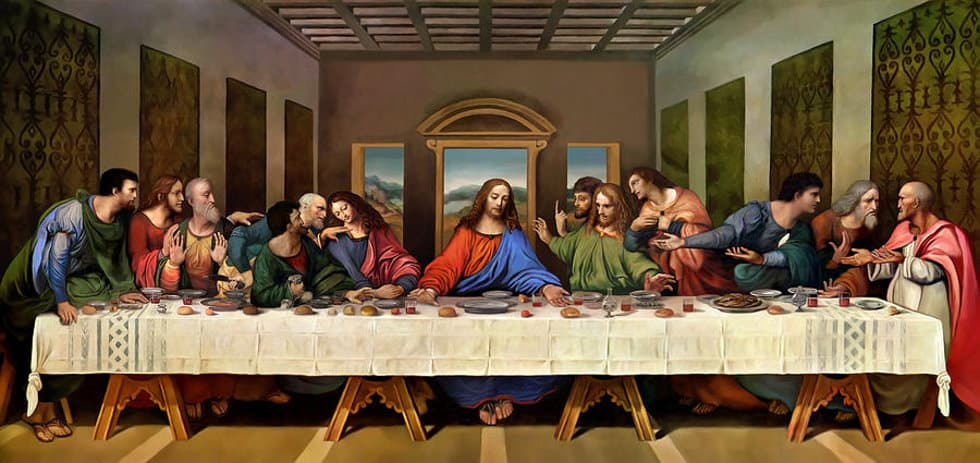 Image result for last supper painting da vinci