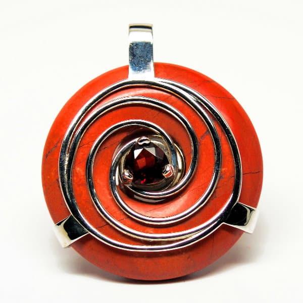 Red Jasper w/Garnet