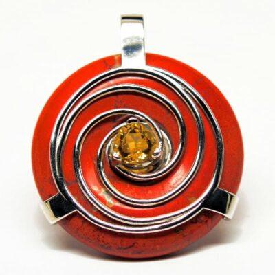 Red Jasper w/Citrine