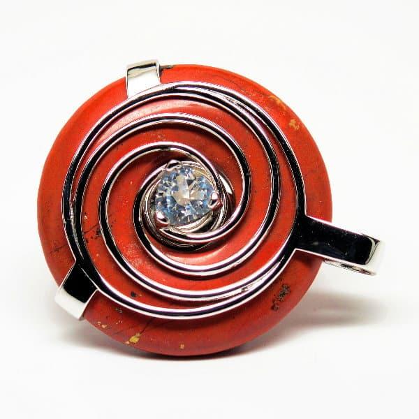 Red Jasper w/Clear Quartz