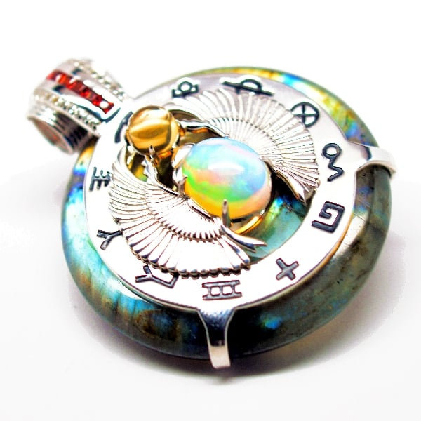 Rainbow Scarab Front View