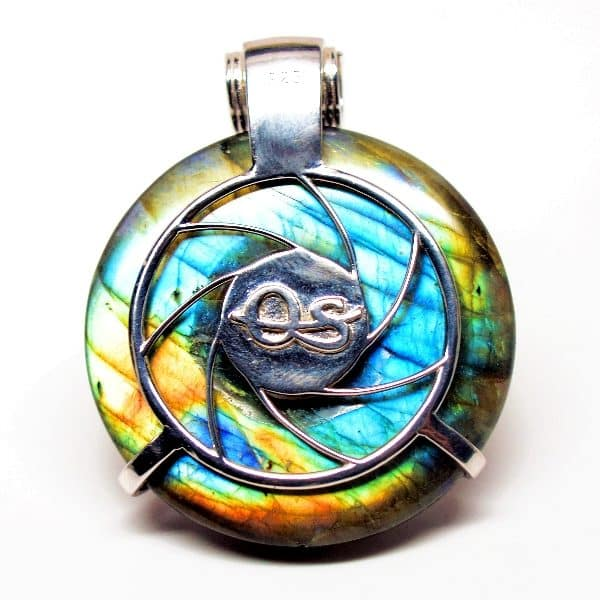 Rainbow Labradorite w/Opal & Garnet– Scarab Egyptian