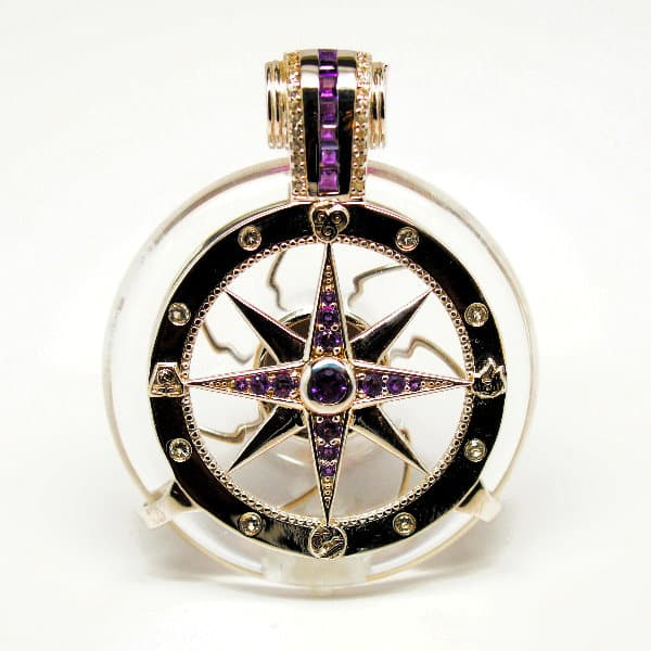 Clear Quartz - Galactic Compass Front View