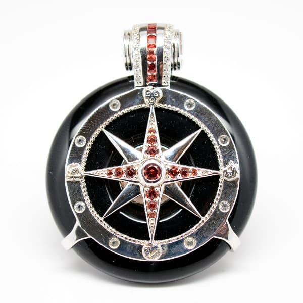Black Obsidian - Galactic Compass Front View