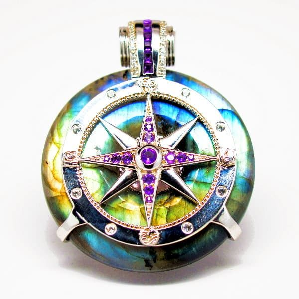 Rainbow Labradorite - Galactic Compass Front View