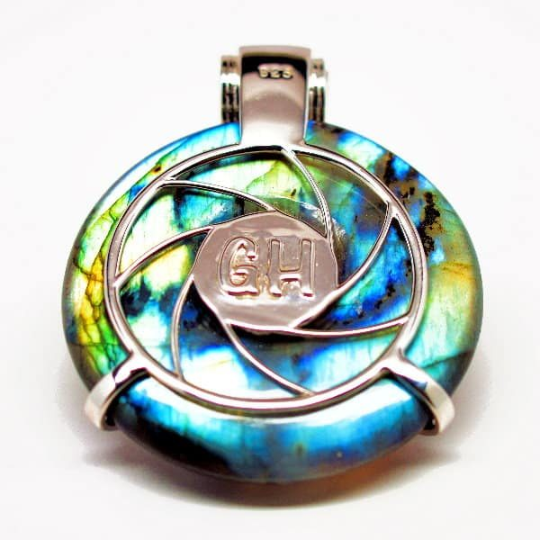 Rainbow Labradorite - Galactic Compass Back View