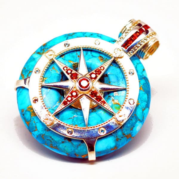 Turquoise - Galactic Compass Front View