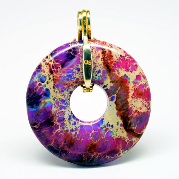 Imperial Jasper with Gold Bail
