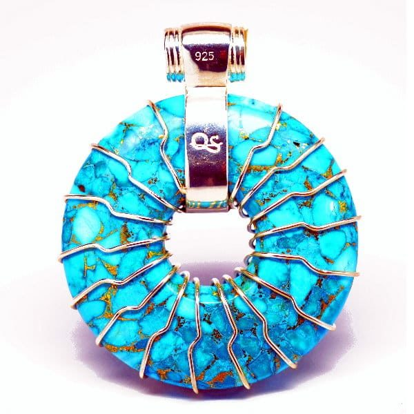 Turquoise Back View