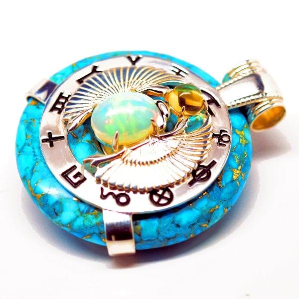 Turquoise Scarab