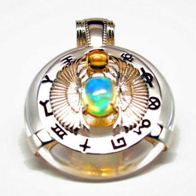 Clear Quartz Scarab