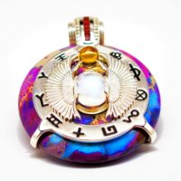 Imperial Rainbow Jasper Scarab