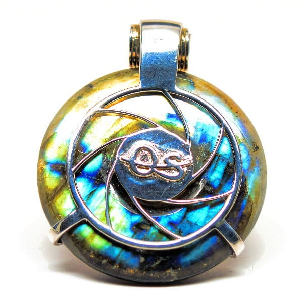 Rainbow Labradorite & Garnet w/ Moonstone Eye