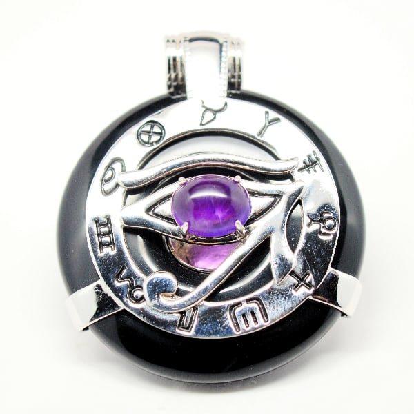 Black Obsidian Amethyst Eye
