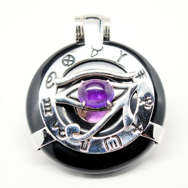 Black Obsidian Amethyst Eye