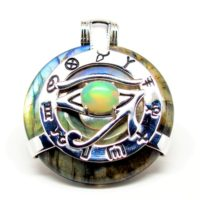 Rainbow Eye of Horus Opal