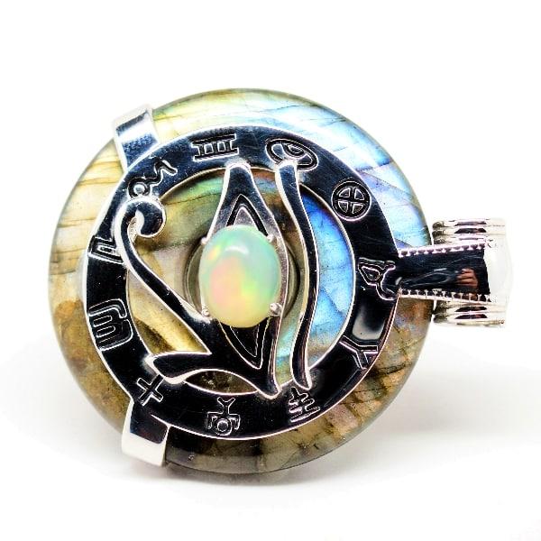 Rainbow Eye of Horus Opal