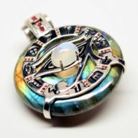 Rainbow Eye of Horus Moonstone