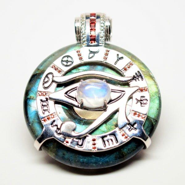 Rainbow Eye of Horus Moonstone