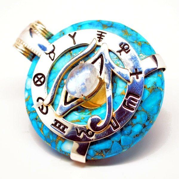 Turquoise Moonstone Eye of Horus